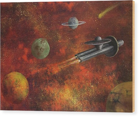 Unidentified Flying Object Wood Print