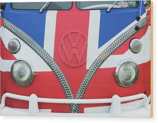 Union Jack Split Screen Vw Wood Print