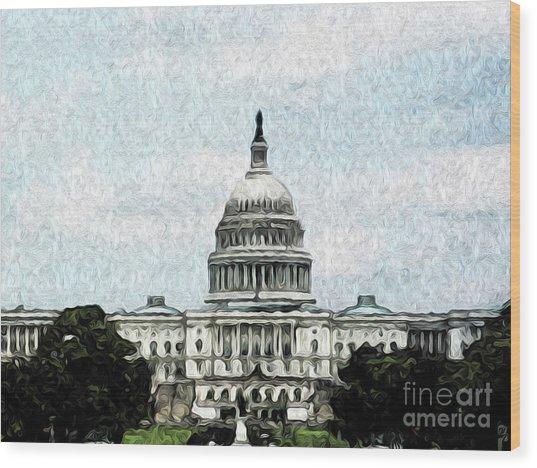 United State Capitol Wood Print