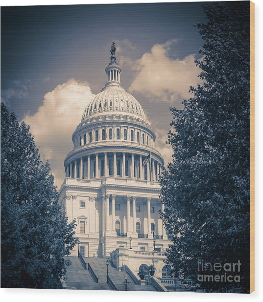 United States Capitol Building Washington Dc 1 Wood Print