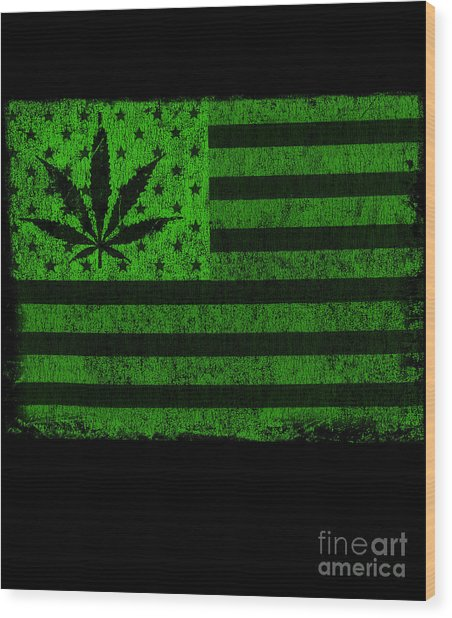United States Of Cannabis Wood Print
