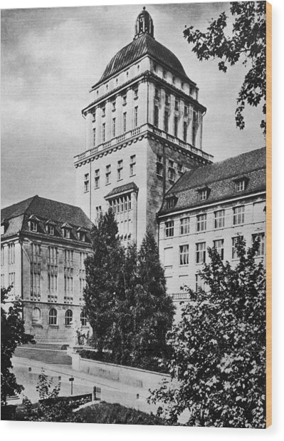 University Of Zurich Wood Print by Hulton Archive