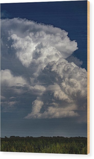 Updrafts And Anvil 008 Wood Print
