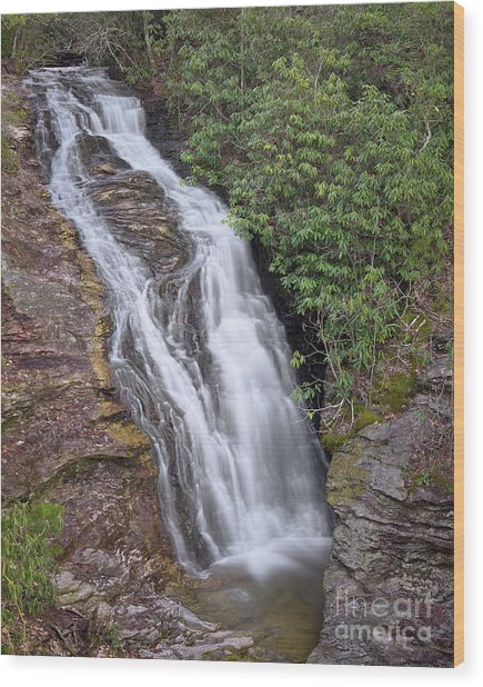 Wood Print featuring the photograph Upper Cascade 1 by Patrick M Lynch
