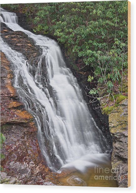 Wood Print featuring the photograph Upper Cascade 6 by Patrick M Lynch