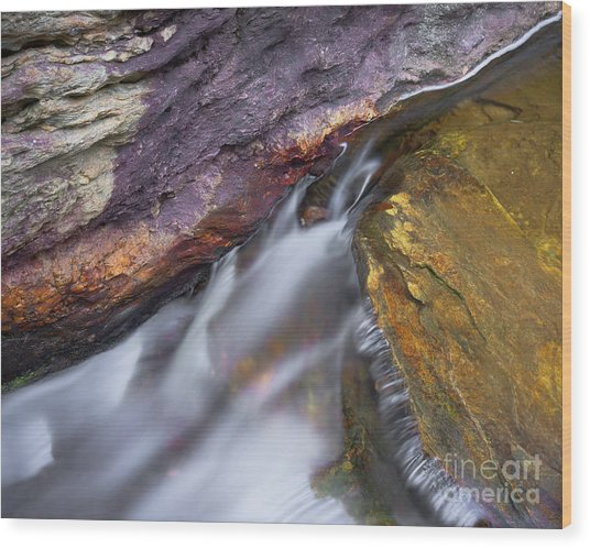 Wood Print featuring the photograph Upper Cascade 9 by Patrick M Lynch