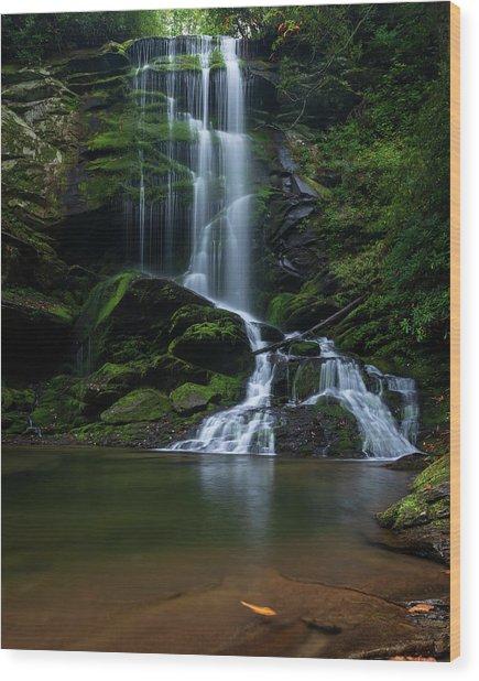 Upper Catawba Falls, North Carolina Wood Print