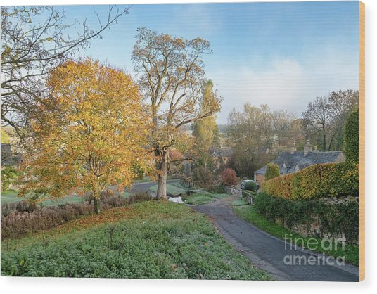Upper Slaughter In The Autumn Wood Print