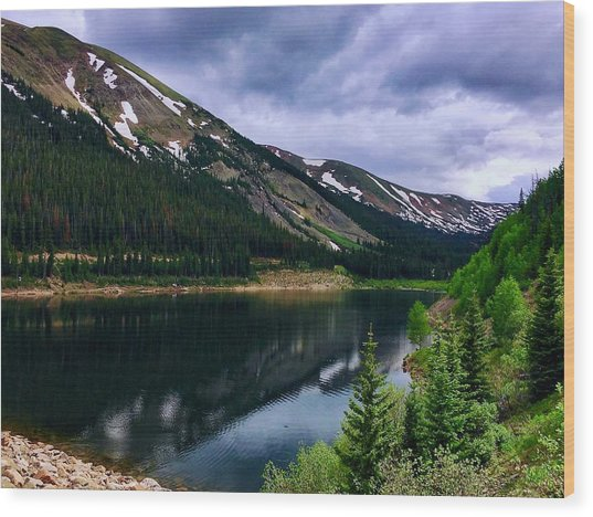 Wood Print featuring the photograph Urad Lake by Dan Miller