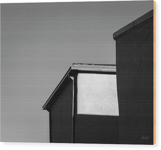 Wood Print featuring the photograph Urban Abstract II Bw by David Gordon