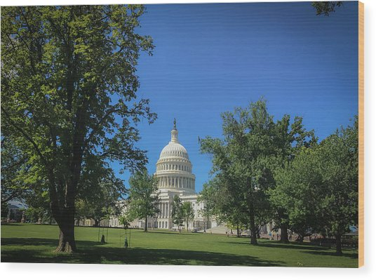 Us Capitol Wood Print