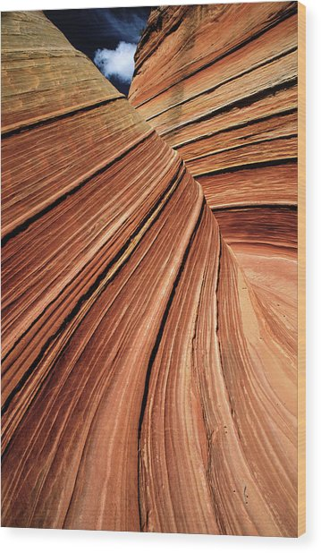 Usa, Arizona, Vermilion Cliffs National Wood Print by Philippe Bourseiller