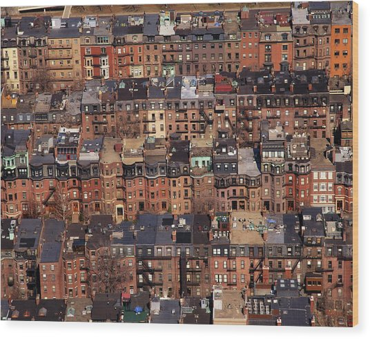 Usa, Massachusetts, Boston Wood Print by Connie Coleman