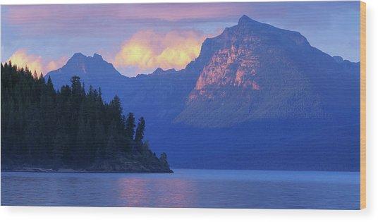 Usa, Montana, Glacier Np, Mountains Wood Print by Paul Souders