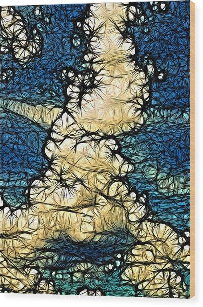 Utopia Parkway Wood Print