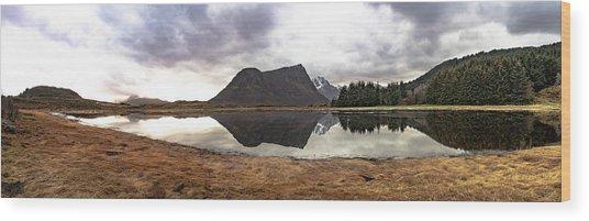 Uttakleiv Reflections Wood Print