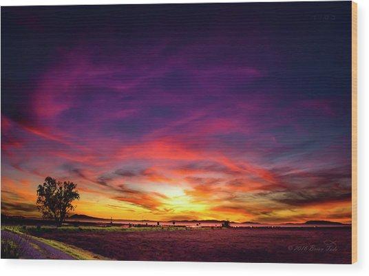 Valentine Sunset Wood Print
