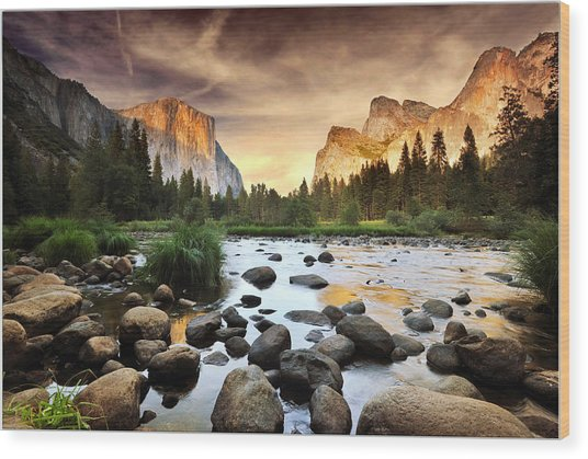 Valley Of Gods Wood Print