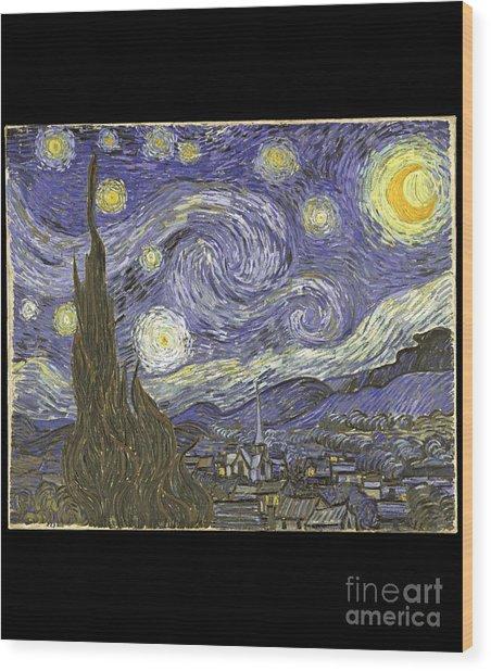 Van Goh Starry Night Wood Print