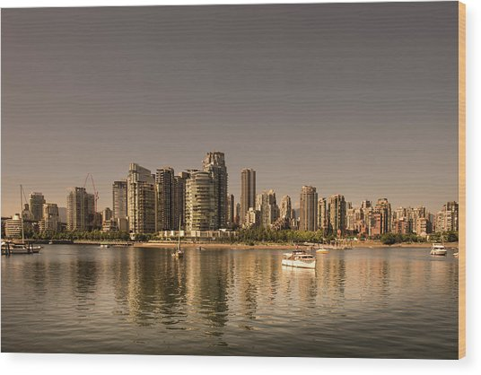 Vancouver Golden Light Hour Wood Print