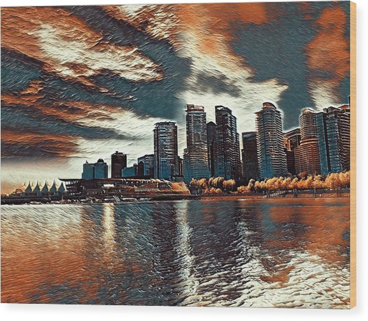 Vancouver Wood Print by Keith Cassatt