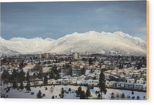 Vancouver Winterscape Wood Print
