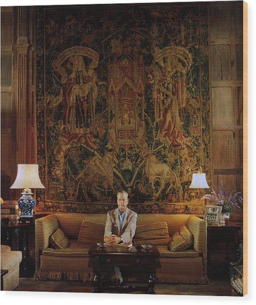 Vanderbilt At Home Wood Print by Slim Aarons