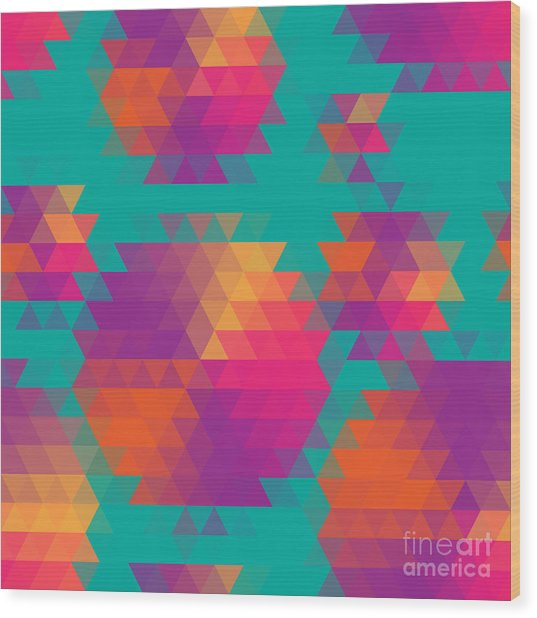 Vector Abstract Seamless Pattern With Wood Print