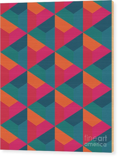 Vector Modern Seamless Colorful Wood Print