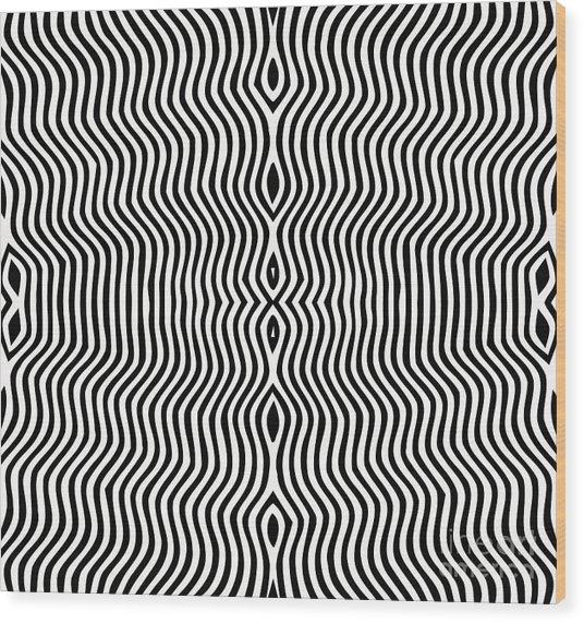 Vector - Optical Art Wood Print