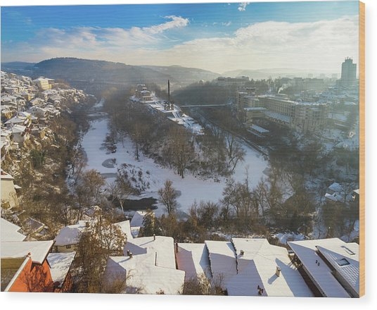 Veliko Turnovo City Wood Print