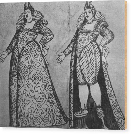 Venetian Fashion Wood Print by Hulton Archive