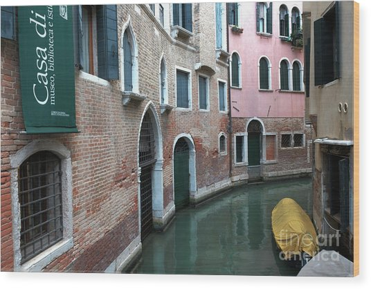 Venetian Streets -canals. Carlo Galdoni Museum Wood Print