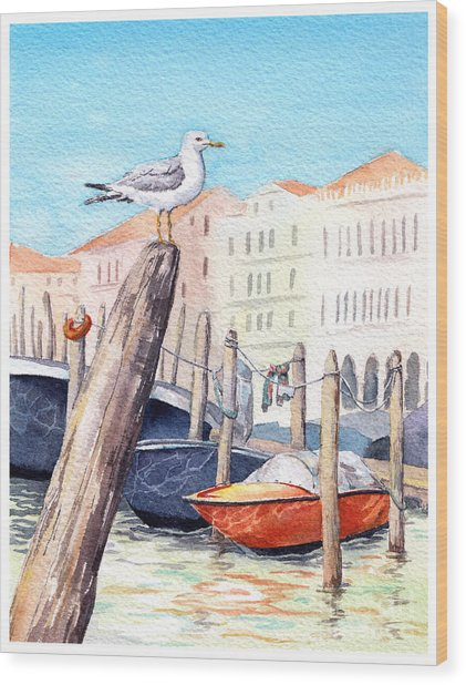 Venice - Boats, Water, Buildings And Wood Print