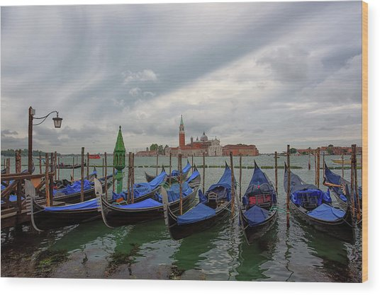 Wood Print featuring the photograph Venice Gondola's Grand Canal by Nathan Bush