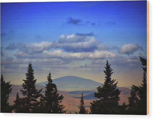 Wood Print featuring the photograph Vermont From Mount Greylock Summit by Raymond Salani III