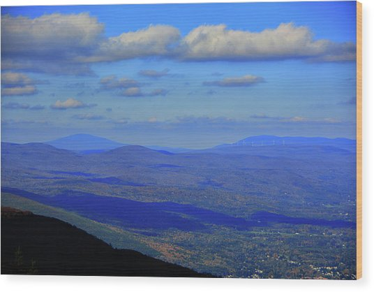 Wood Print featuring the photograph Vermont From The Summit Of Mount Greylock 3 by Raymond Salani III