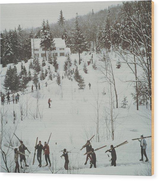 Vermont Winter Wood Print