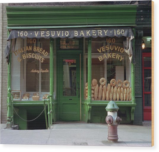 Vesuvio Bakery Wood Print by Michael Gerbino