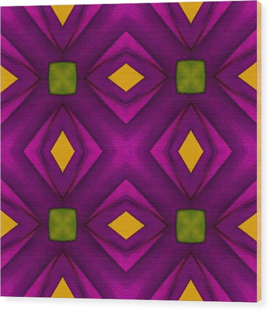 Vibrant Geometric Design Wood Print