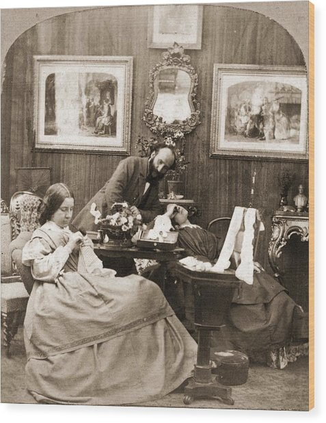 Victorian Life Wood Print by Otto Herschan Collection