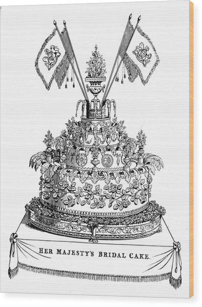 Victorias Wedding Cake Wood Print by Hulton Archive