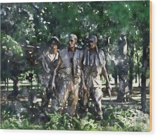 Vietnam Veteran Memorial Wood Print