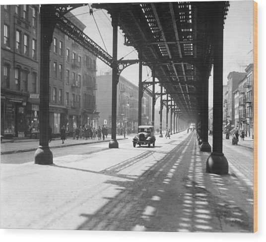 View From 38th St. And Second Ave Wood Print by New York Daily News Archive