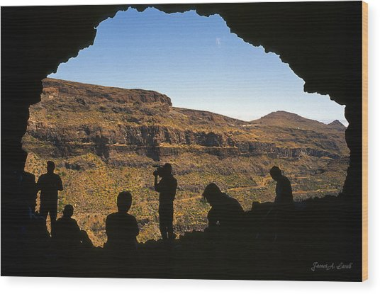 View From Cueva Del Rey, Tejeda Wood Print