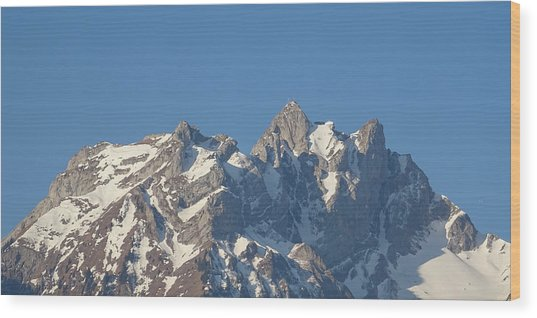 View From My Art Studio - Pilatus II - April 2019 Wood Print