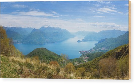 View From Rifugio Menaggio Lake Como Italy Wood Print