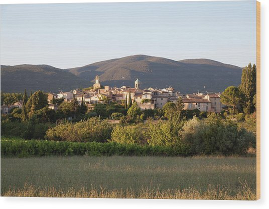 Village Of Lourmarin Wood Print by Photo And Co