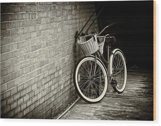 Vintage Bicycles Wood Print