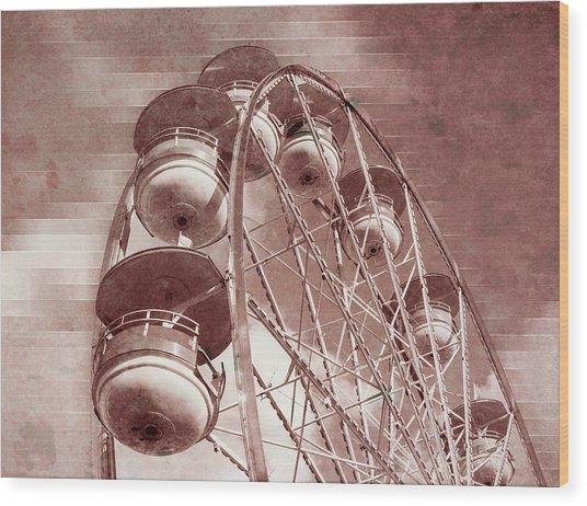 Vintage Ferris Wheel Wood Print
